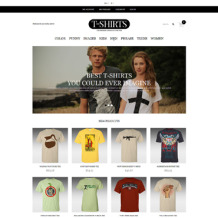 T-shirt Shop Responsive Magento Theme