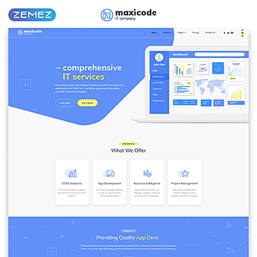 IT Responsive Website Template
