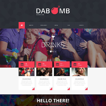 Night Club Responsive Website Template #51781