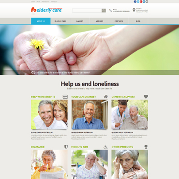 Elderly Care Responsive Joomla Template