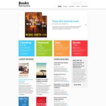 Book Reviews Responsive Website Template
