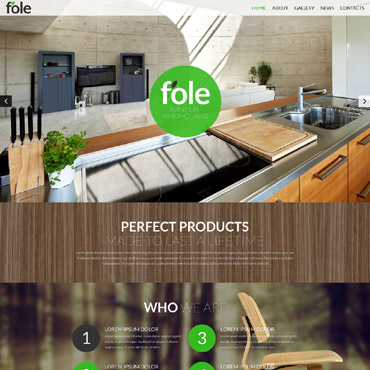 Furniture Responsive Website Template