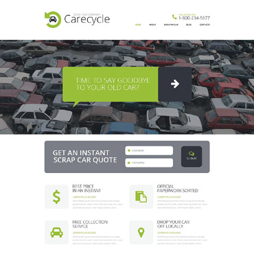 Car Scrap Yard Responsive Website Template #51925