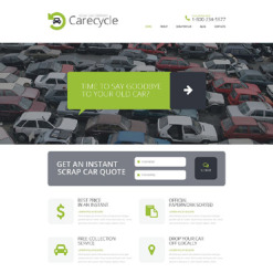 Car Scrap Yard Responsive Website Template