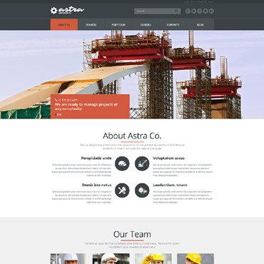 Reliable Building Company Joomla Template #51953