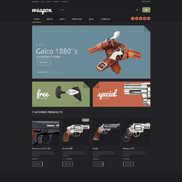 Gun Shop Responsive WooCommerce Theme