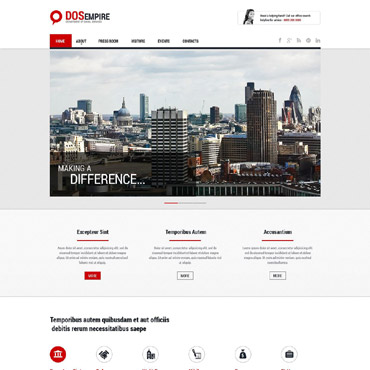 Social Foundation Responsive Website Template