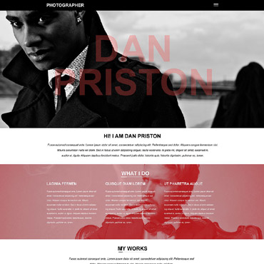 Photographer Portfolio Muse Template