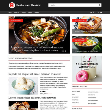 Restaurant Reviews Responsive Website Template