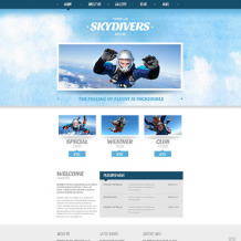 Skydiving Responsive Joomla Template