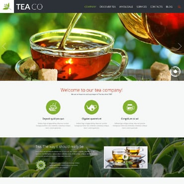 Tea Shop Responsive Website Template #52093