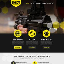 Shooting Responsive Website Template
