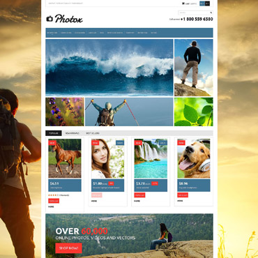 Stock Photo Responsive PrestaShop Theme