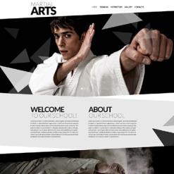 Martial Arts Responsive Website Template