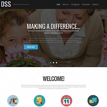 Social Foundation Moto CMS HTML Template