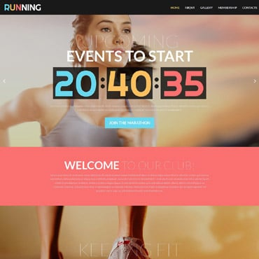 Running Responsive Website Template