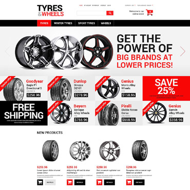 Wheels & Tires Responsive Magento Theme