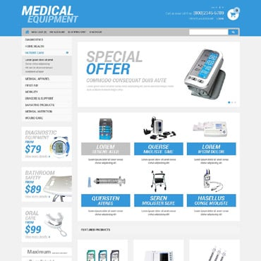 Medical Equipment Store OpenCart Template #52261