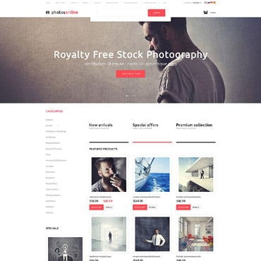 Stock Photo OsCommerce Template