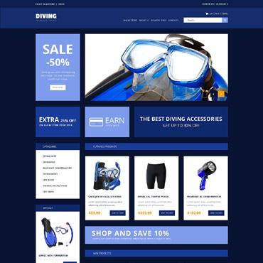 Diving Responsive VirtueMart Template