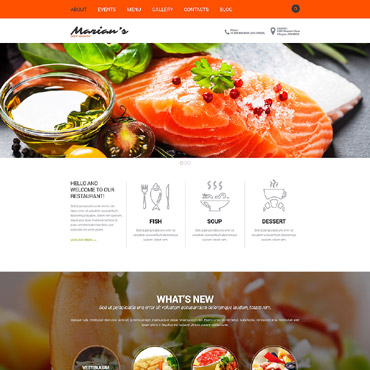 Cozy Restaurant Joomla Template #52305