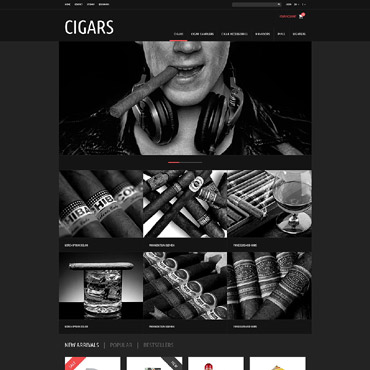 Tobacco  Cigars Store PrestaShop Theme #52341