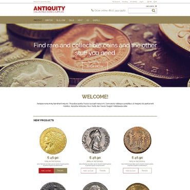 Antique Store Responsive Magento Theme