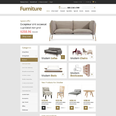 Furniture OsCommerce Template