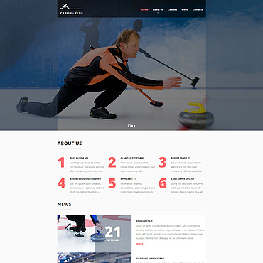 Curling Responsive Website Template