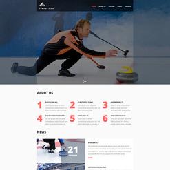 Curling Responsive Website Template