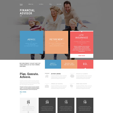 Financial Advisor Responsive Drupal Template