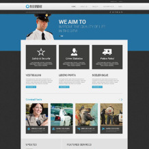Police Responsive WordPress Theme