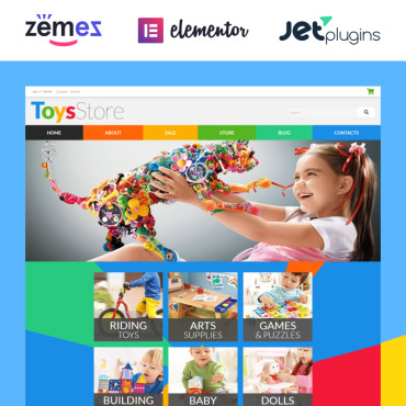 Toys for Kids WooCommerce Theme #52481