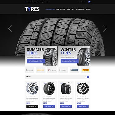 Wheels & Tires Responsive OpenCart Template