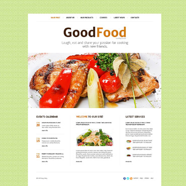 Cooking School Website Template #52545