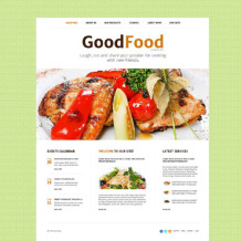 Cooking School Responsive Website Template