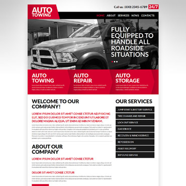 Automobile Towage Joomla Template #52585