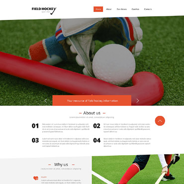 Hockey Responsive Website Template