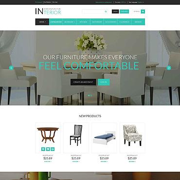 Interior & Furniture Responsive Magento Theme #52693