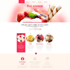Ice Cream Responsive Website Template