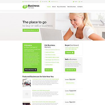Business for Sell Website Template #52717