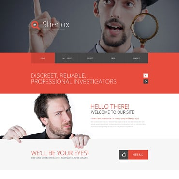Private Investigator Responsive Website Template