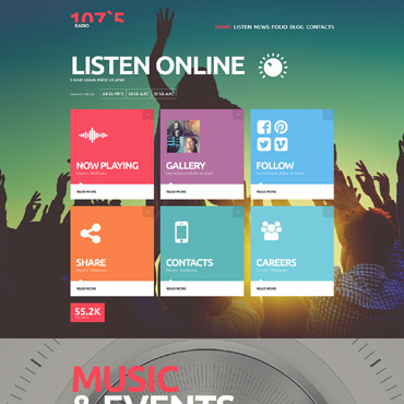 Radio Website Responsive Joomla Template
