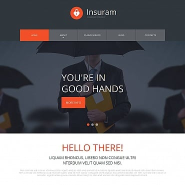 Insurance Moto CMS HTML Template #52781