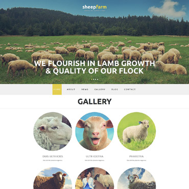 Sheep Farm Responsive Joomla Template