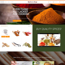 Spice Shop PSD Template
