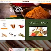 Spice Shop PSD Template