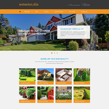 Exterior Design Muse Template