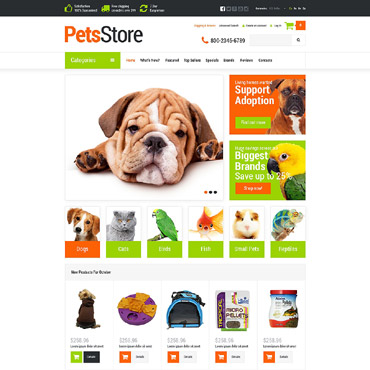 Pets Supplies Shop OsCommerce Template #52909