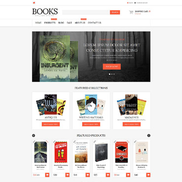 Book Store Responsive Shopify Theme